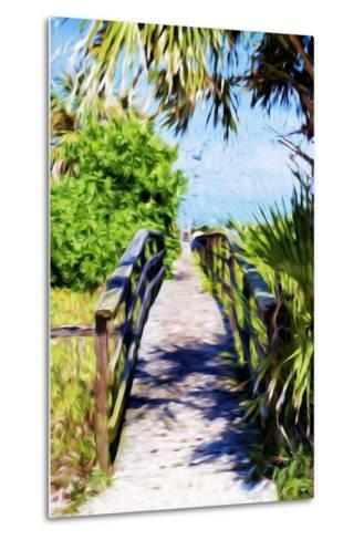 Way to the Beach - In the Style of Oil Painting-Philippe Hugonnard-Metal Print