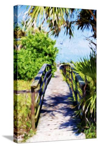 Way to the Beach - In the Style of Oil Painting-Philippe Hugonnard-Stretched Canvas Print
