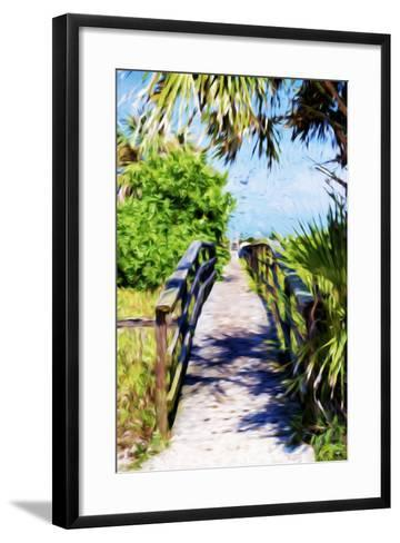 Way to the Beach - In the Style of Oil Painting-Philippe Hugonnard-Framed Art Print