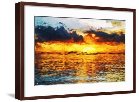 Sea Sun - In the Style of Oil Painting-Philippe Hugonnard-Framed Art Print
