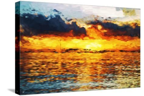 Sea Sun - In the Style of Oil Painting-Philippe Hugonnard-Stretched Canvas Print