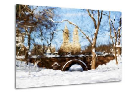 Winter in Central Park VII - In the Style of Oil Painting-Philippe Hugonnard-Metal Print