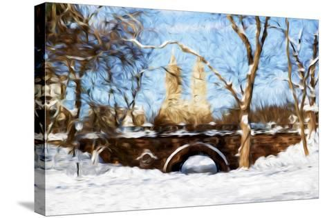 Winter in Central Park VII - In the Style of Oil Painting-Philippe Hugonnard-Stretched Canvas Print