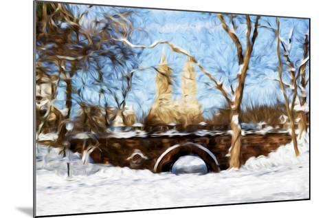 Winter in Central Park VII - In the Style of Oil Painting-Philippe Hugonnard-Mounted Giclee Print