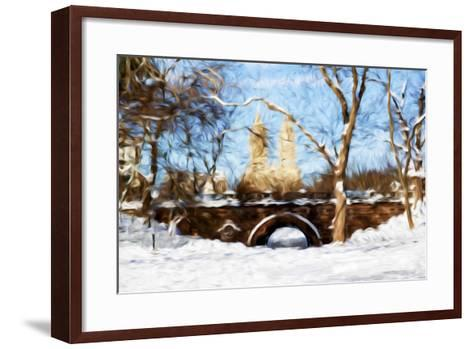 Winter in Central Park VII - In the Style of Oil Painting-Philippe Hugonnard-Framed Art Print