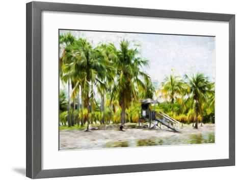 Life Guard Station II - In the Style of Oil Painting-Philippe Hugonnard-Framed Art Print