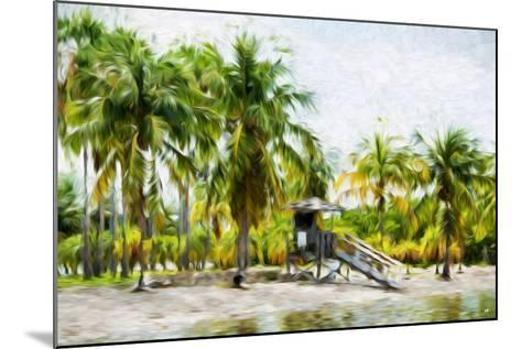 Life Guard Station II - In the Style of Oil Painting-Philippe Hugonnard-Mounted Giclee Print