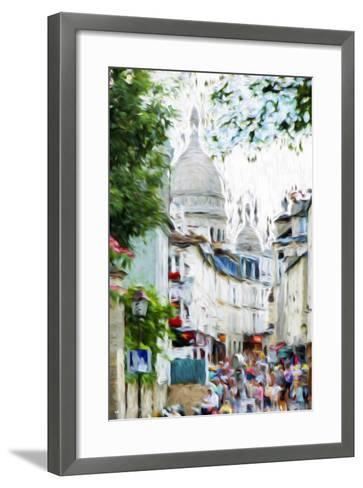 Paris Montmartre VI - In the Style of Oil Painting-Philippe Hugonnard-Framed Art Print