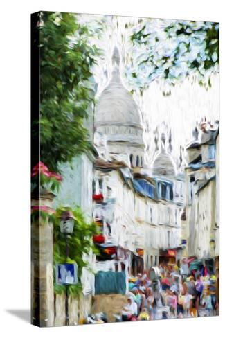 Paris Montmartre VI - In the Style of Oil Painting-Philippe Hugonnard-Stretched Canvas Print