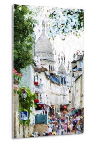 Paris Montmartre VI - In the Style of Oil Painting-Philippe Hugonnard-Metal Print