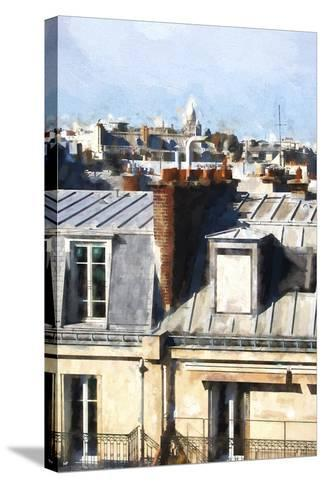 Paris Rooftops-Philippe Hugonnard-Stretched Canvas Print