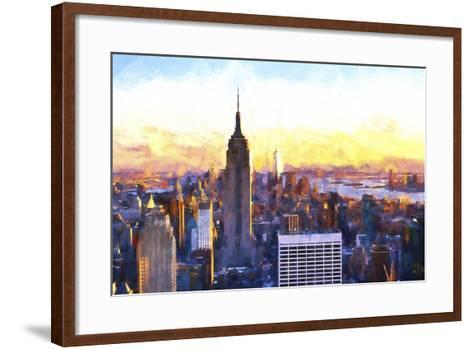 Manhattan Nightfall-Philippe Hugonnard-Framed Art Print
