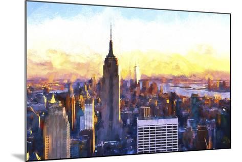 Manhattan Nightfall-Philippe Hugonnard-Mounted Giclee Print