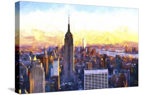 Manhattan Nightfall-Philippe Hugonnard-Stretched Canvas Print