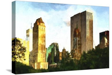 Central Park Buildings-Philippe Hugonnard-Stretched Canvas Print