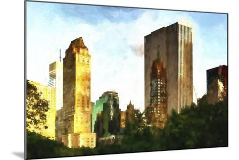 Central Park Buildings-Philippe Hugonnard-Mounted Giclee Print