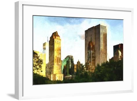 Central Park Buildings-Philippe Hugonnard-Framed Art Print