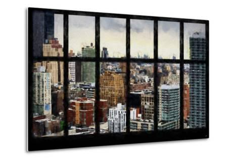 New York View from the Window-Philippe Hugonnard-Metal Print