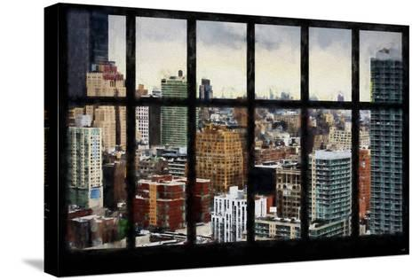 New York View from the Window-Philippe Hugonnard-Stretched Canvas Print
