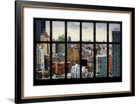New York View from the Window-Philippe Hugonnard-Framed Art Print