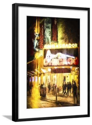 Broadway at Night-Philippe Hugonnard-Framed Art Print
