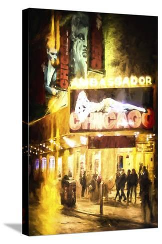 Broadway at Night-Philippe Hugonnard-Stretched Canvas Print