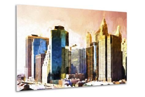 Lower Manhattan Sunset-Philippe Hugonnard-Metal Print