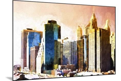Lower Manhattan Sunset-Philippe Hugonnard-Mounted Giclee Print