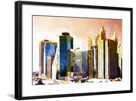 Lower Manhattan Sunset-Philippe Hugonnard-Framed Art Print