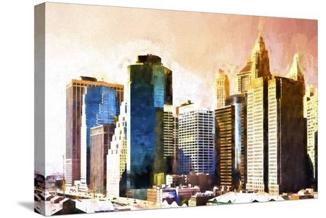 Lower Manhattan Sunset-Philippe Hugonnard-Stretched Canvas Print