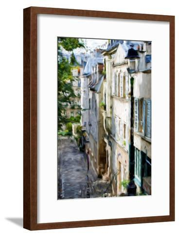 Montmartre Street II - In the Style of Oil Painting-Philippe Hugonnard-Framed Art Print