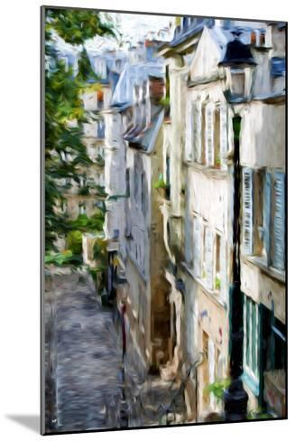 Montmartre Street II - In the Style of Oil Painting-Philippe Hugonnard-Mounted Giclee Print