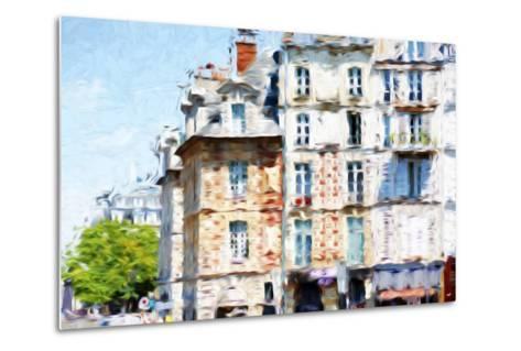 Paris Buildings - In the Style of Oil Painting-Philippe Hugonnard-Metal Print