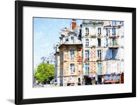Paris Buildings - In the Style of Oil Painting-Philippe Hugonnard-Framed Art Print