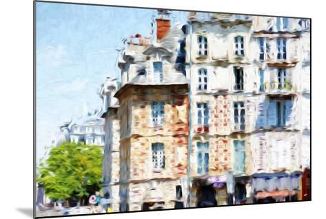 Paris Buildings - In the Style of Oil Painting-Philippe Hugonnard-Mounted Giclee Print
