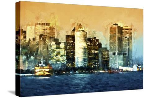 Lower Manhattan-Philippe Hugonnard-Stretched Canvas Print
