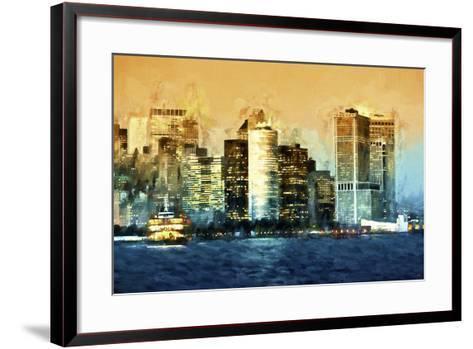 Lower Manhattan-Philippe Hugonnard-Framed Art Print
