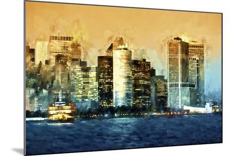 Lower Manhattan-Philippe Hugonnard-Mounted Giclee Print