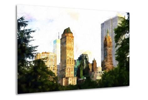 Central Park Buildings II-Philippe Hugonnard-Metal Print