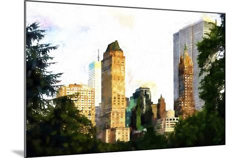 Central Park Buildings II-Philippe Hugonnard-Mounted Giclee Print