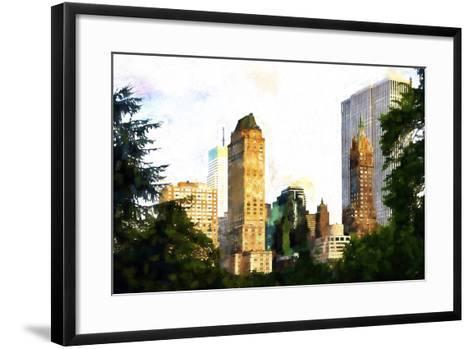 Central Park Buildings II-Philippe Hugonnard-Framed Art Print