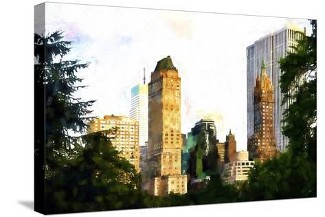 Central Park Buildings II-Philippe Hugonnard-Stretched Canvas Print