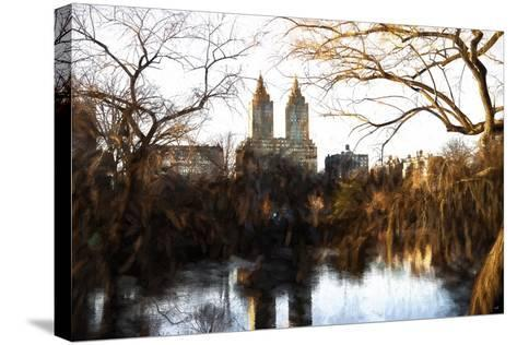 Fall Colors on Central Park-Philippe Hugonnard-Stretched Canvas Print