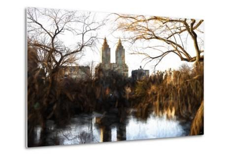Fall Colors on Central Park-Philippe Hugonnard-Metal Print