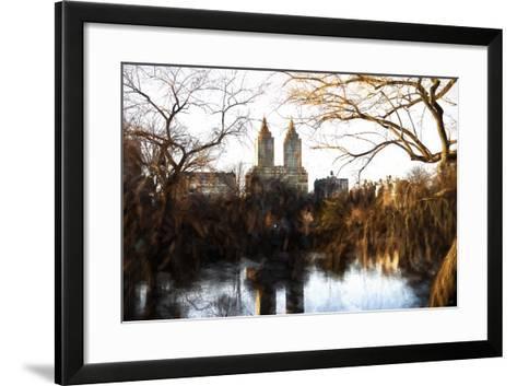 Fall Colors on Central Park-Philippe Hugonnard-Framed Art Print