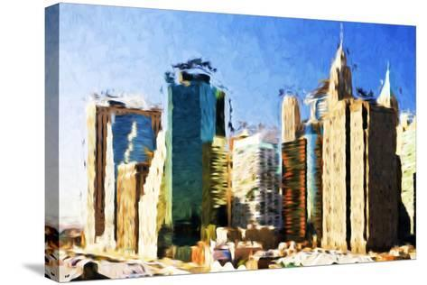 First City - In the Style of Oil Painting-Philippe Hugonnard-Stretched Canvas Print