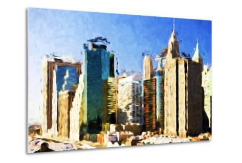 First City - In the Style of Oil Painting-Philippe Hugonnard-Metal Print