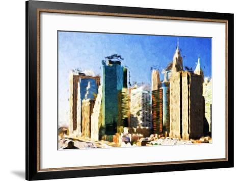 First City - In the Style of Oil Painting-Philippe Hugonnard-Framed Art Print