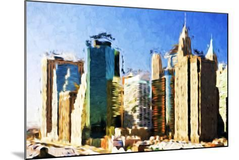 First City - In the Style of Oil Painting-Philippe Hugonnard-Mounted Giclee Print