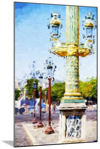 Paris Architecture III - In the Style of Oil Painting-Philippe Hugonnard-Mounted Giclee Print